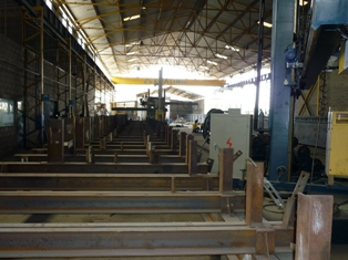 Beams assembly table 36x3.2 m