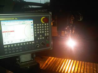 CNC cutting table plasma and oxyfuel